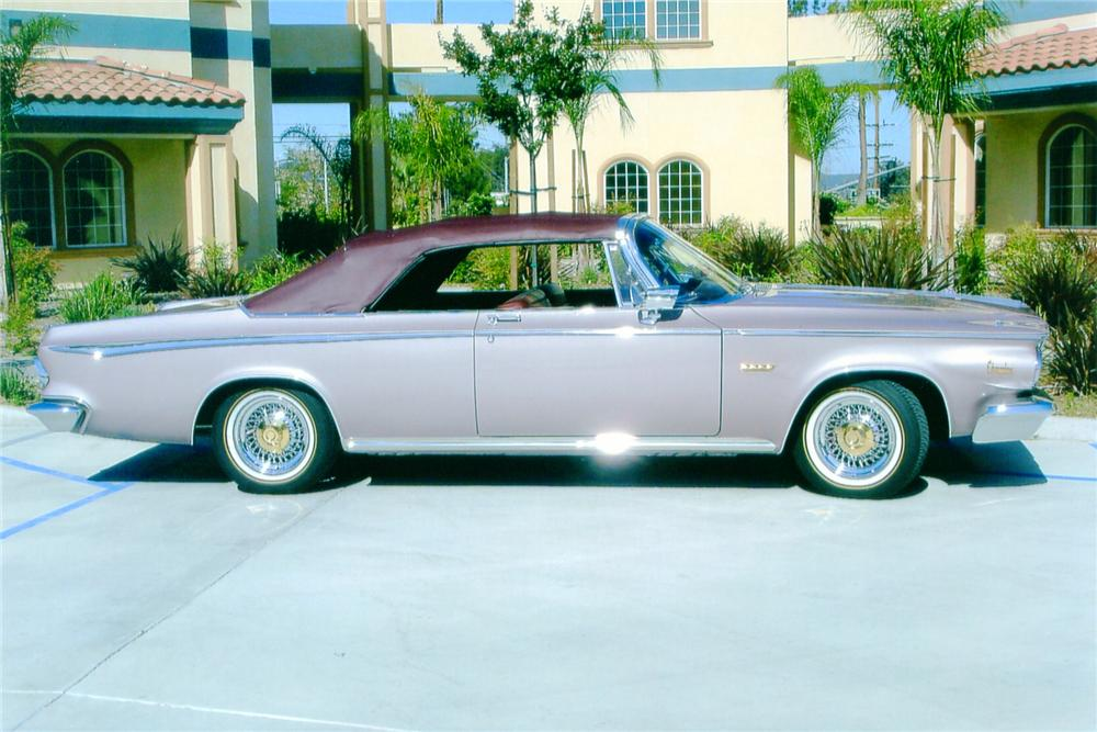 1964 CHRYSLER NEWPORT CUSTOM CONVERTIBLE - Side Profile - 91060