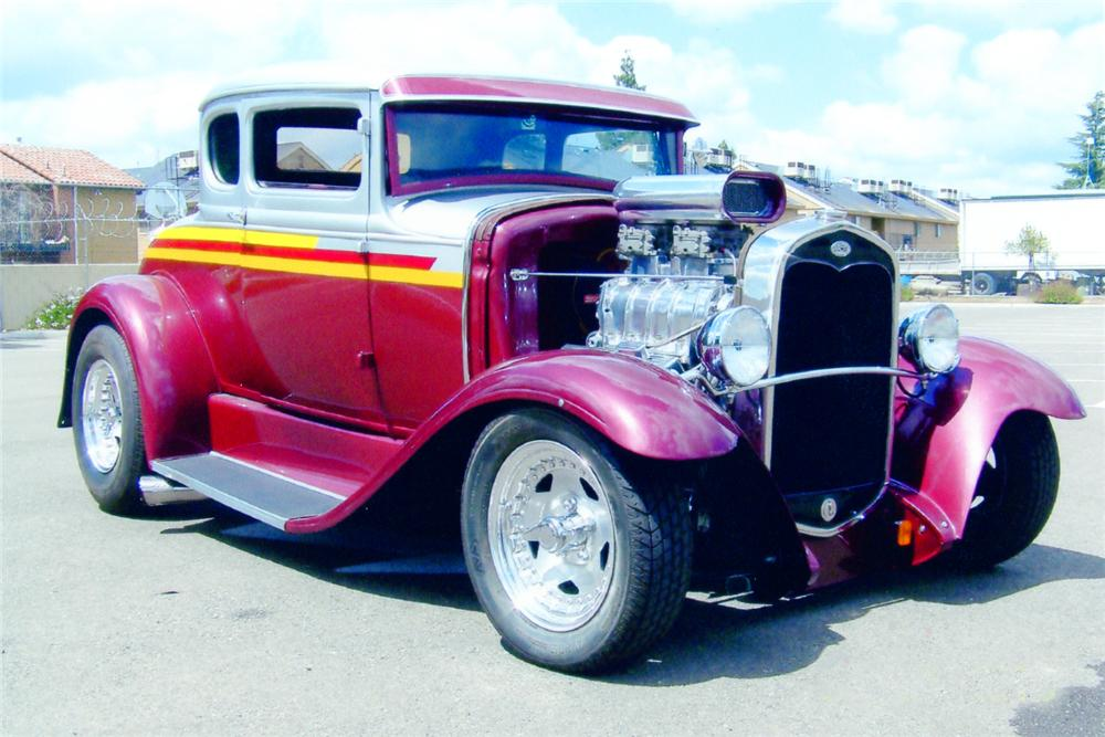 1931 FORD 5 WINDOW CUSTOM COUPE - Front 3/4 - 91061