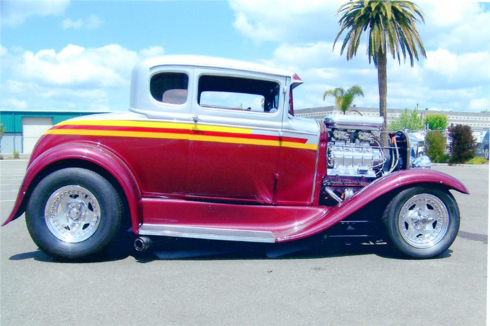 1931 FORD 5 WINDOW CUSTOM COUPE - Side Profile - 91061