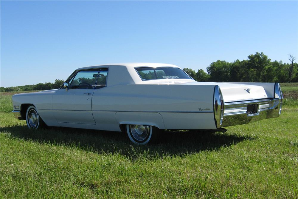 1968 CADILLAC COUPE DE VILLE 2 DOOR HARDTOP - Rear 3/4 - 91062