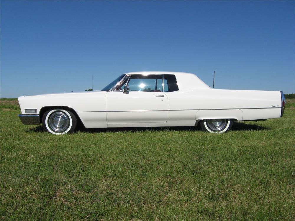 1968 CADILLAC COUPE DE VILLE 2 DOOR HARDTOP - Side Profile - 91062