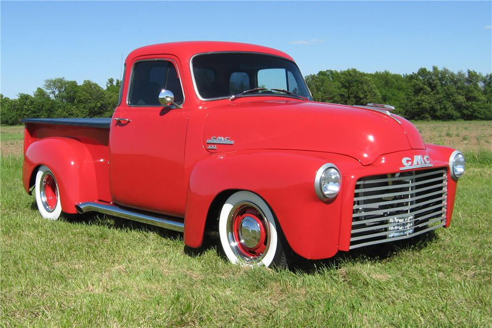 1954 GMC 100 DELUXE CUSTOM PICKUP - Front 3/4 - 91063