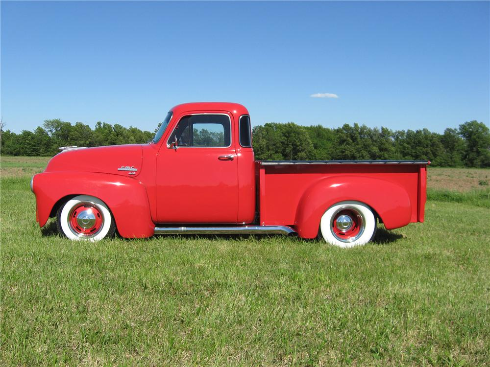 1954 GMC 100 DELUXE CUSTOM PICKUP - Side Profile - 91063