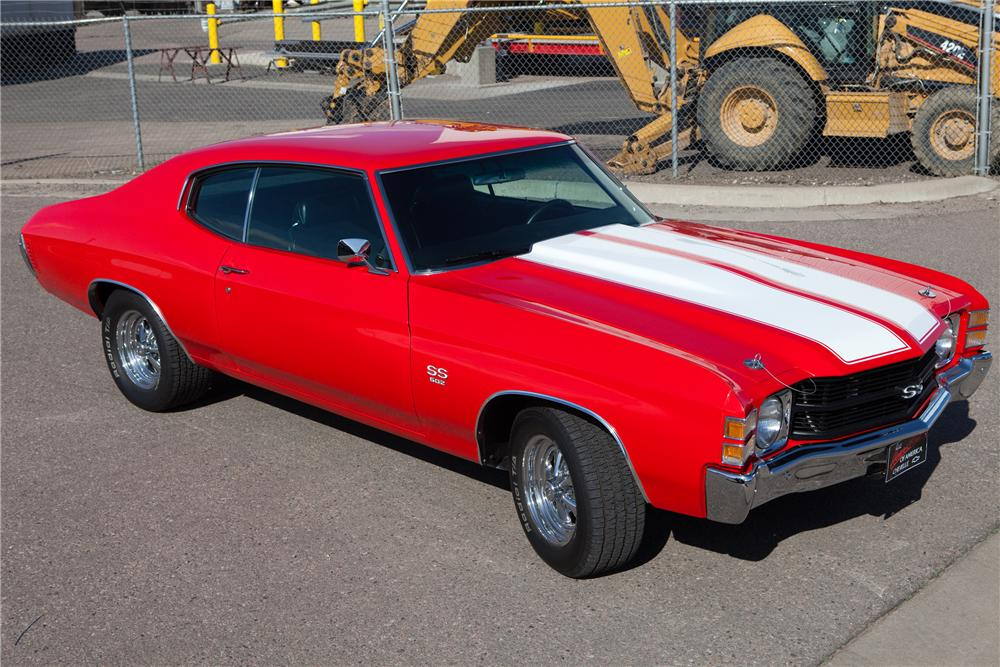 1971 CHEVROLET CHEVELLE CUSTOM COUPE - Front 3/4 - 91074