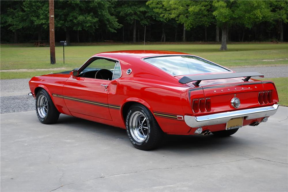 1969 FORD MUSTANG MACH 1 CUSTOM FASTBACK - Rear 3/4 - 91075