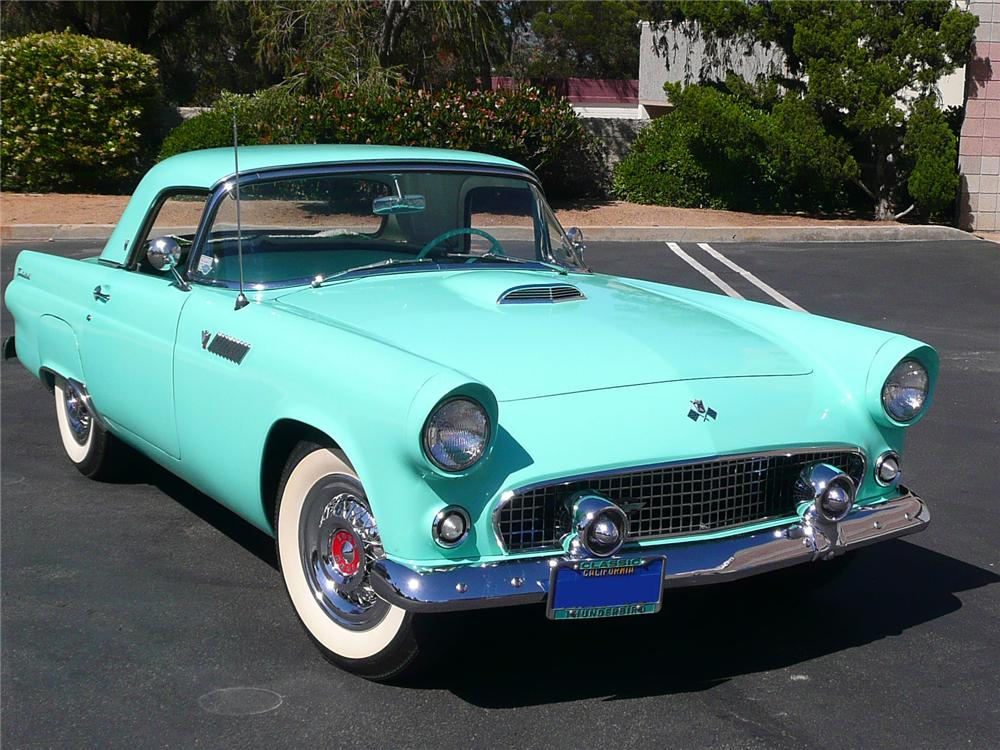 1955 ford thunderbird convertible 91095. Black Bedroom Furniture Sets. Home Design Ideas