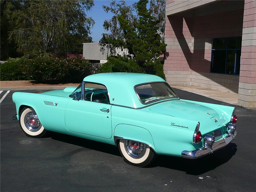 1955 FORD THUNDERBIRD CONVERTIBLE - Rear 3/4 - 91095