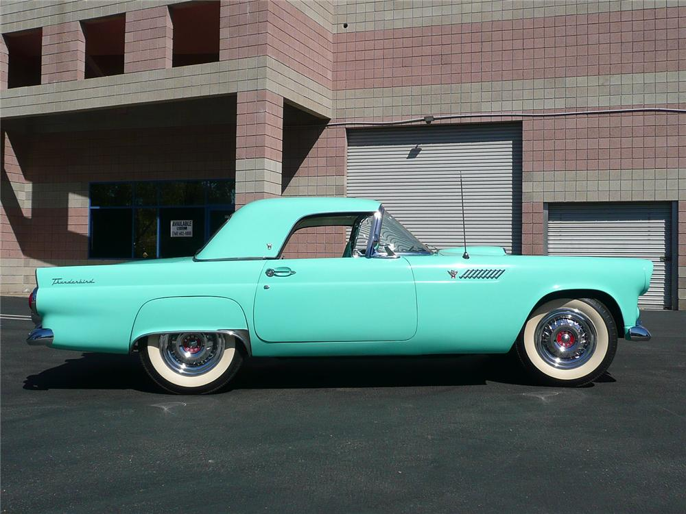 1955 FORD THUNDERBIRD CONVERTIBLE - Side Profile - 91095