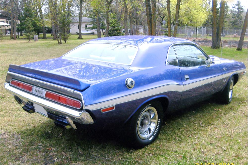 1970 DODGE CHALLENGER CUSTOM 2 DOOR - Rear 3/4 - 91097