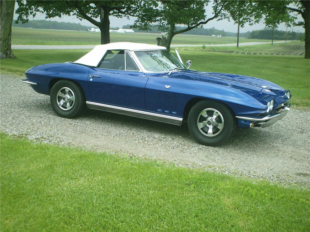 1966 CHEVROLET CORVETTE CONVERTIBLE - Side Profile - 91123