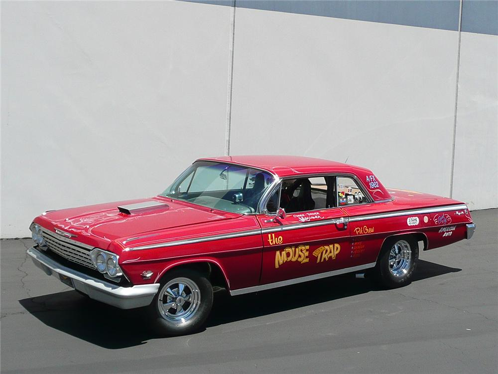 1962 CHEVROLET IMPALA CUSTOM DRAG CAR - Front 3/4 - 91132
