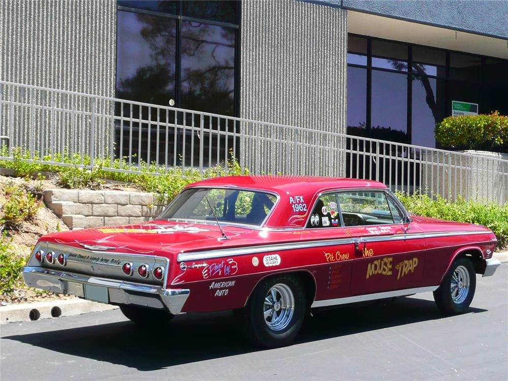 1962 CHEVROLET IMPALA CUSTOM DRAG CAR - Rear 3/4 - 91132