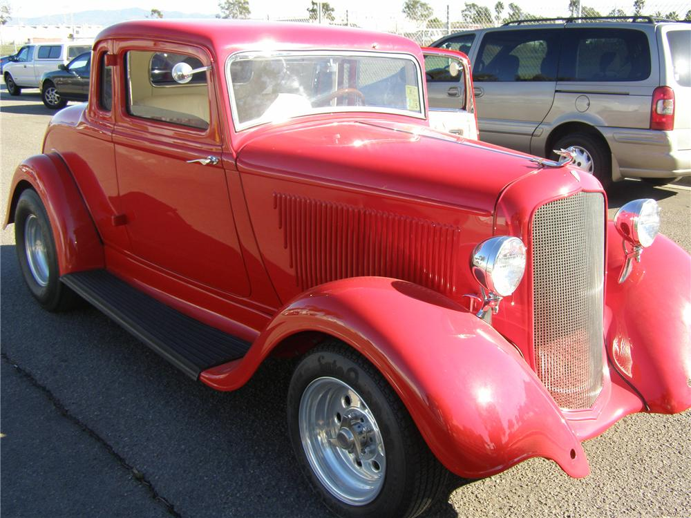 1933 PLYMOUTH CUSTOM COUPE - Front 3/4 - 91149