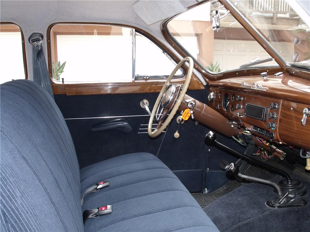 1946 PACKARD CLIPPER SEDAN CUSTOM 4-WHEEL DRIVE - Interior - 91175