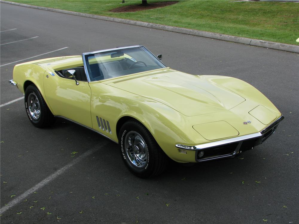 1968 CHEVROLET CORVETTE CONVERTIBLE - Front 3/4 - 91194