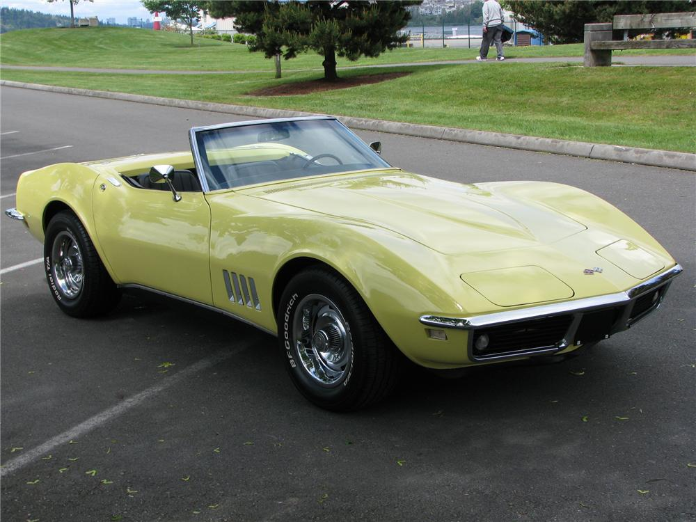 1968 CHEVROLET CORVETTE CONVERTIBLE - Side Profile - 91194