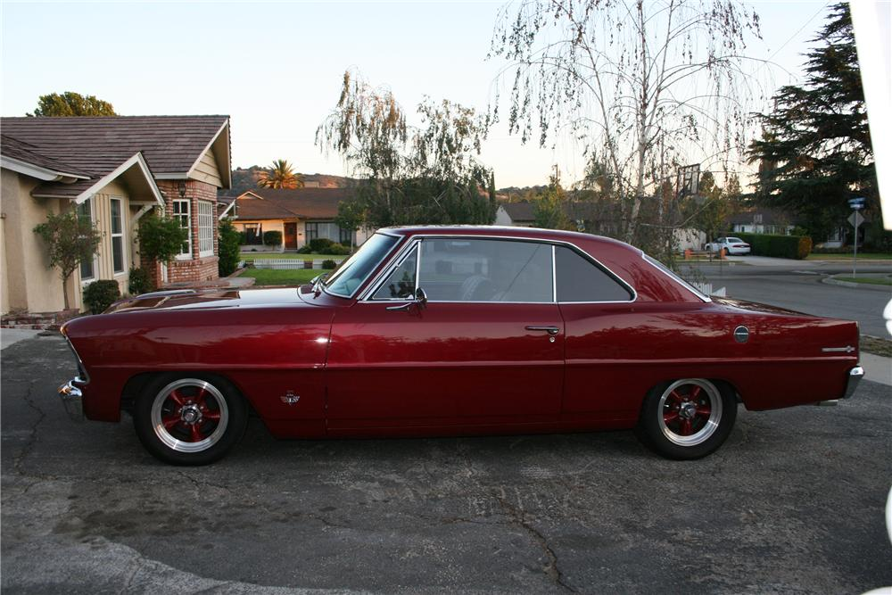 1967 CHEVROLET NOVA 2 DOOR HARDTOP - Side Profile - 91195