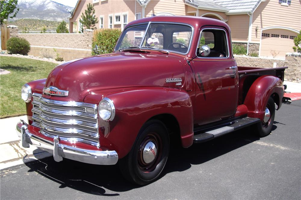 1950 CHEVROLET 3100 5 WINDOW PICKUP - Front 3/4 - 91197
