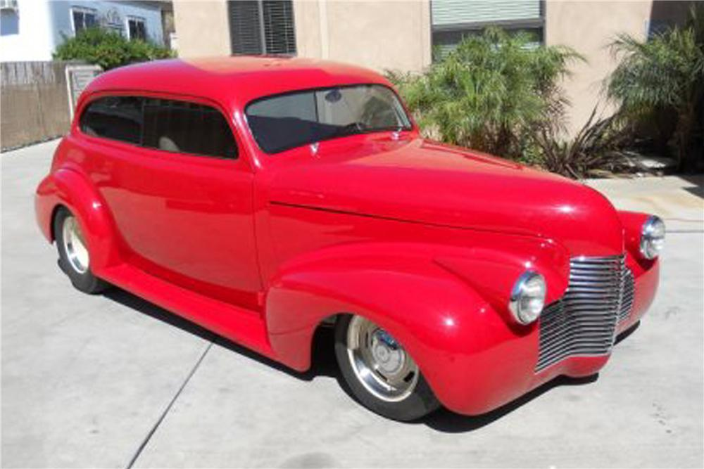 1940 CHEVROLET DELUXE STREET ROD 2 DOOR COUPE - Front 3/4 - 91206