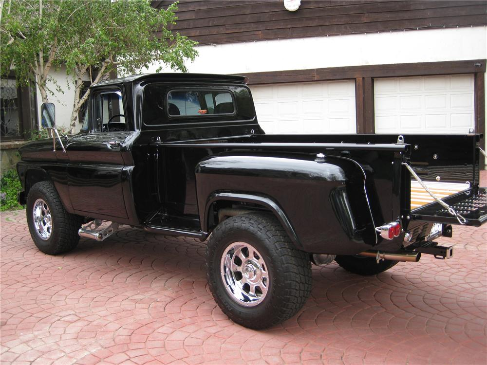 1963 CHEVROLET C-10 CUSTOM STEPSIDE PICKUP - Rear 3/4 - 91208