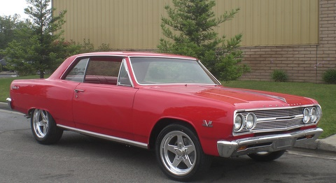 1965 CHEVROLET CHEVELLE MALIBU SS CUSTOM COUPE - Front 3/4 - 91220