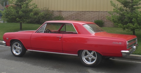 1965 CHEVROLET CHEVELLE MALIBU SS CUSTOM COUPE - Rear 3/4 - 91220