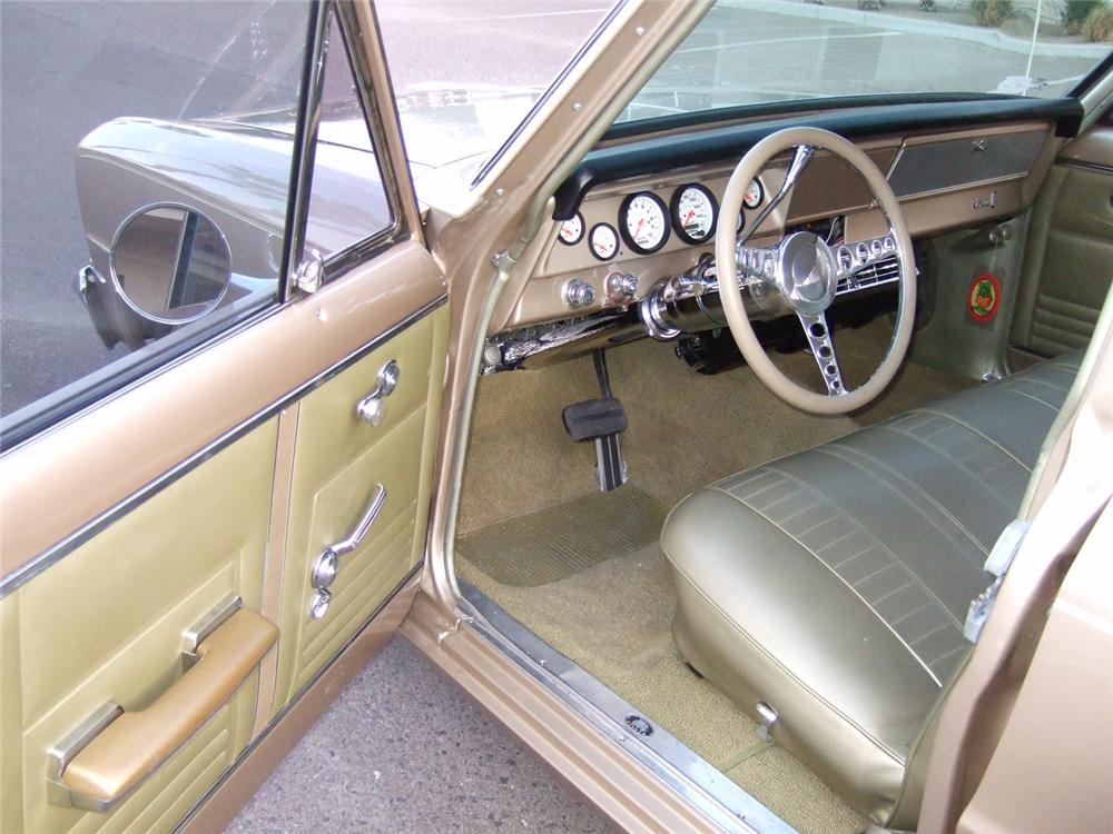 1967 CHEVROLET NOVA CUSTOM 4 DOOR WAGON - Interior - 91223