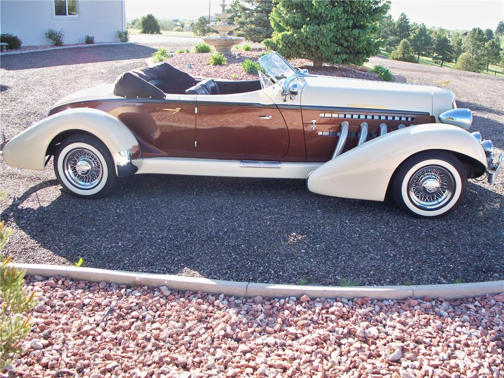 1935 AUBURN BOATTAIL SPEEDSTER RE-CREATION - Side Profile - 91233
