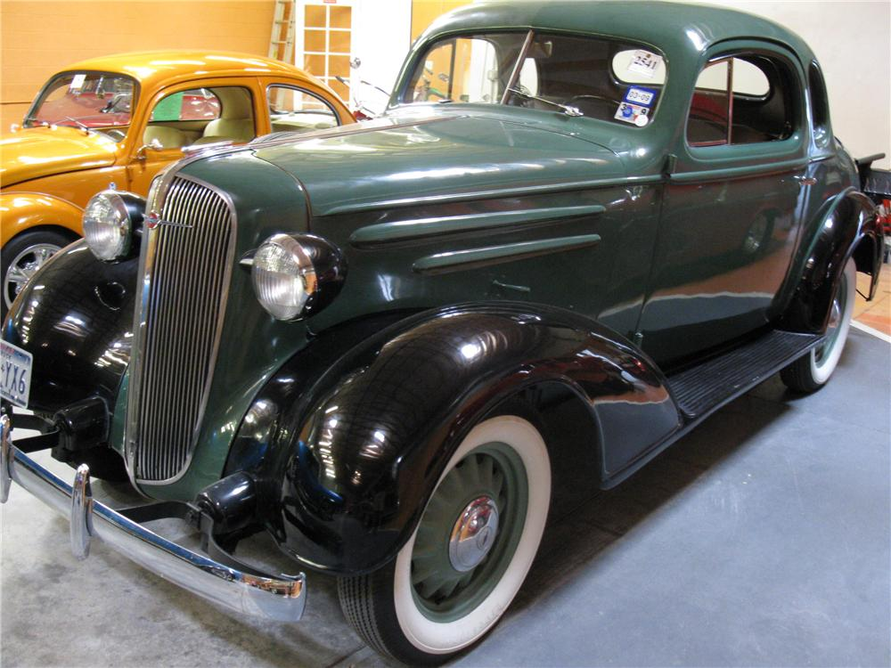 1936 CHEVROLET FOREMAN MODEL FC COUPE DELIVERY - Front 3/4 - 91344