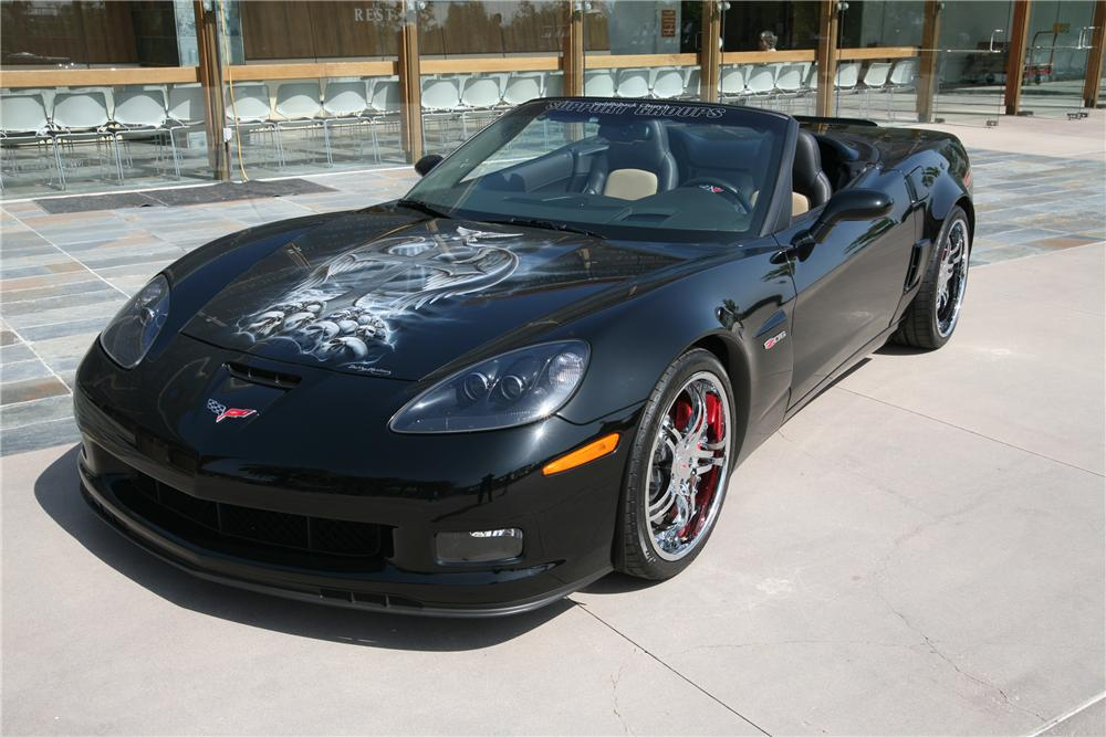 2007 CHEVROLET CORVETTE CUSTOM CONVERTIBLE - Front 3/4 - 91348