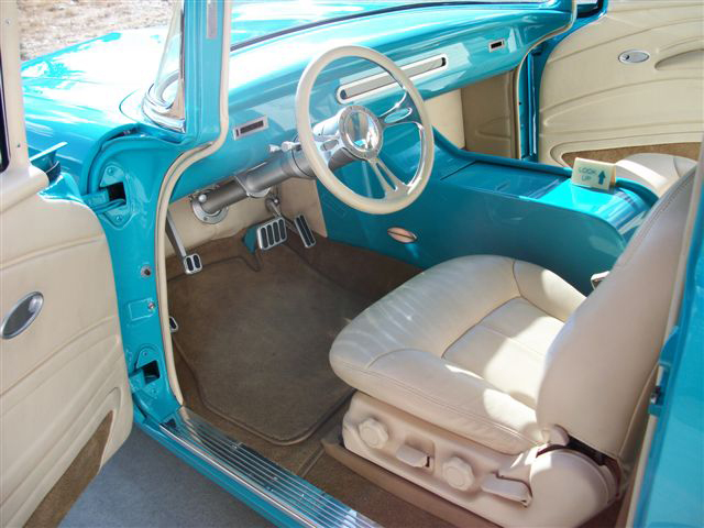 1957 CHEVROLET 150 2 DOOR POST STREET ROD - Interior - 91353