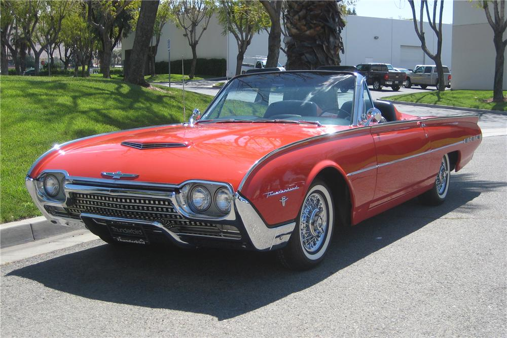 1962 FORD THUNDERBIRD SPORTS ROADSTER - Front 3/4 - 91386