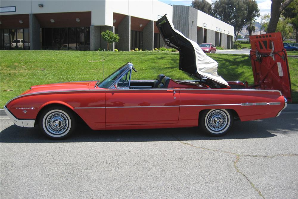 1962 FORD THUNDERBIRD SPORTS ROADSTER - Side Profile - 91386