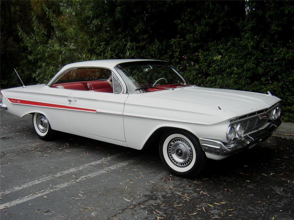 1961 CHEVROLET IMPALA 2 DOOR BUBBLE TOP - Side Profile - 91392