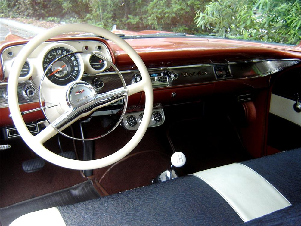 1957 CHEVROLET BEL AIR CUSTOM COUPE - Interior - 91393