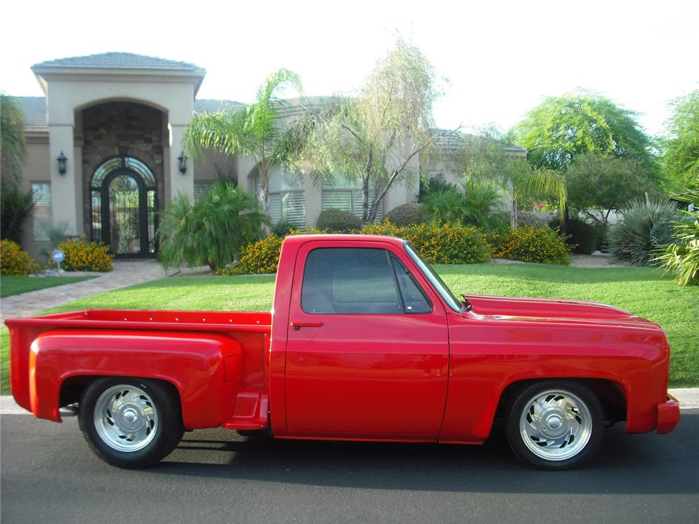 1979 CHEVROLET C-10 CUSTOM PICKUP - Side Profile - 91399