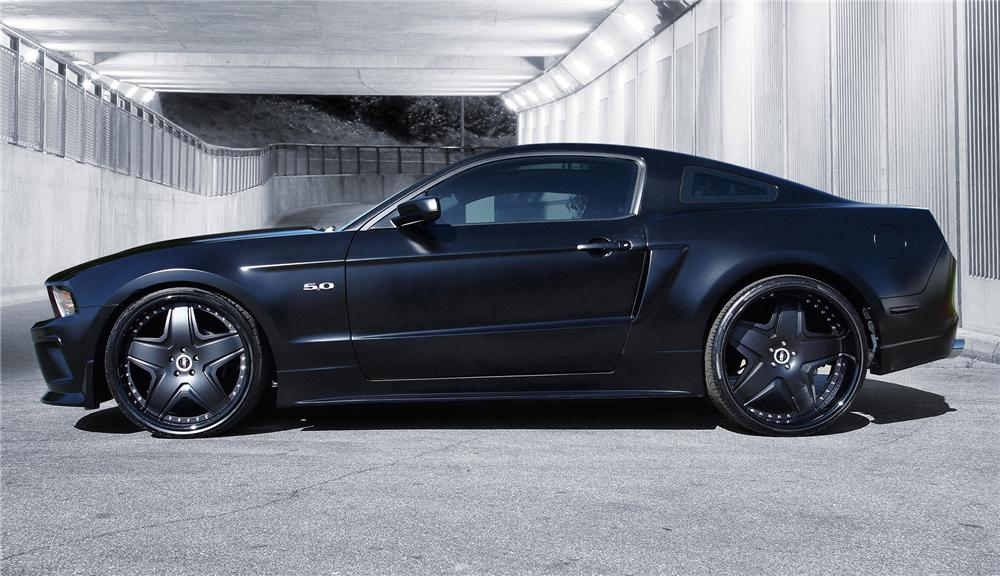 2011 FORD MUSTANG 2 DOOR CUSTOM COUPE DUB WIDEBODY - Side Profile - 91403
