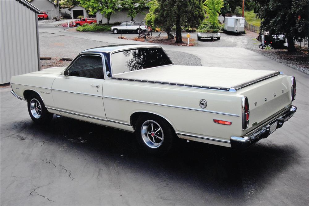 1969 FORD RANCHERO PICKUP - Rear 3/4 - 91442