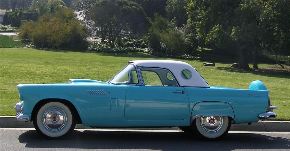 1956 FORD THUNDERBIRD CONVERTIBLE - Side Profile - 91447