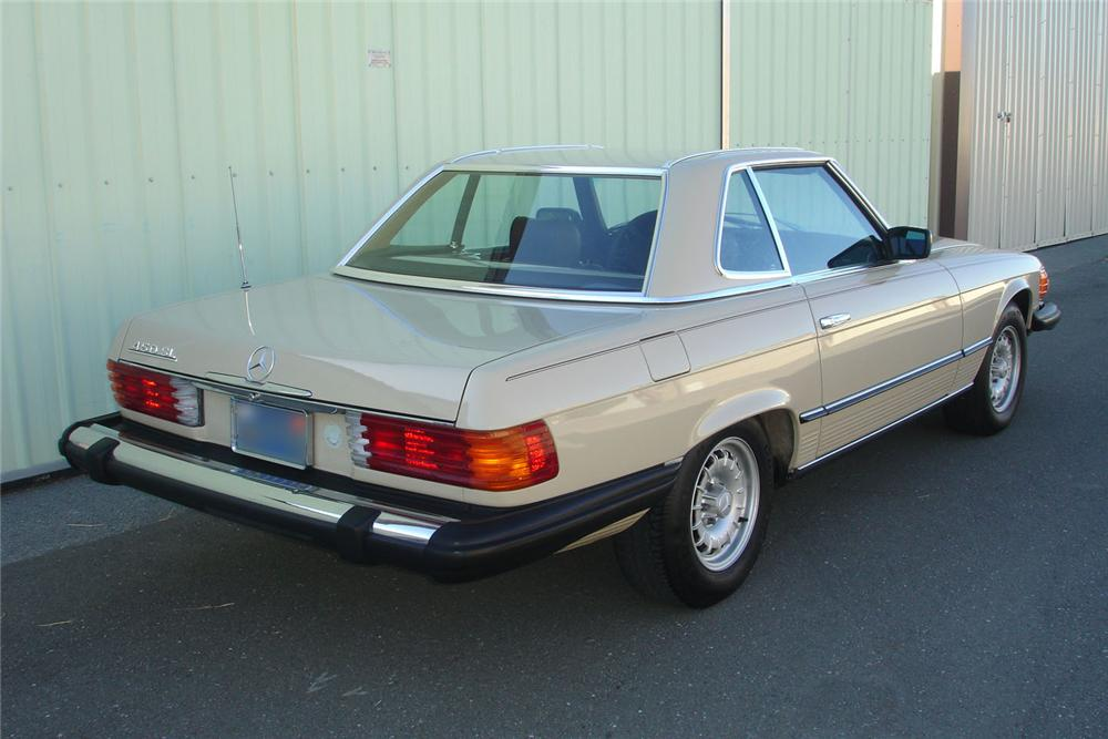 1980 MERCEDES-BENZ 450SL CONVERTIBLE - Rear 3/4 - 91449