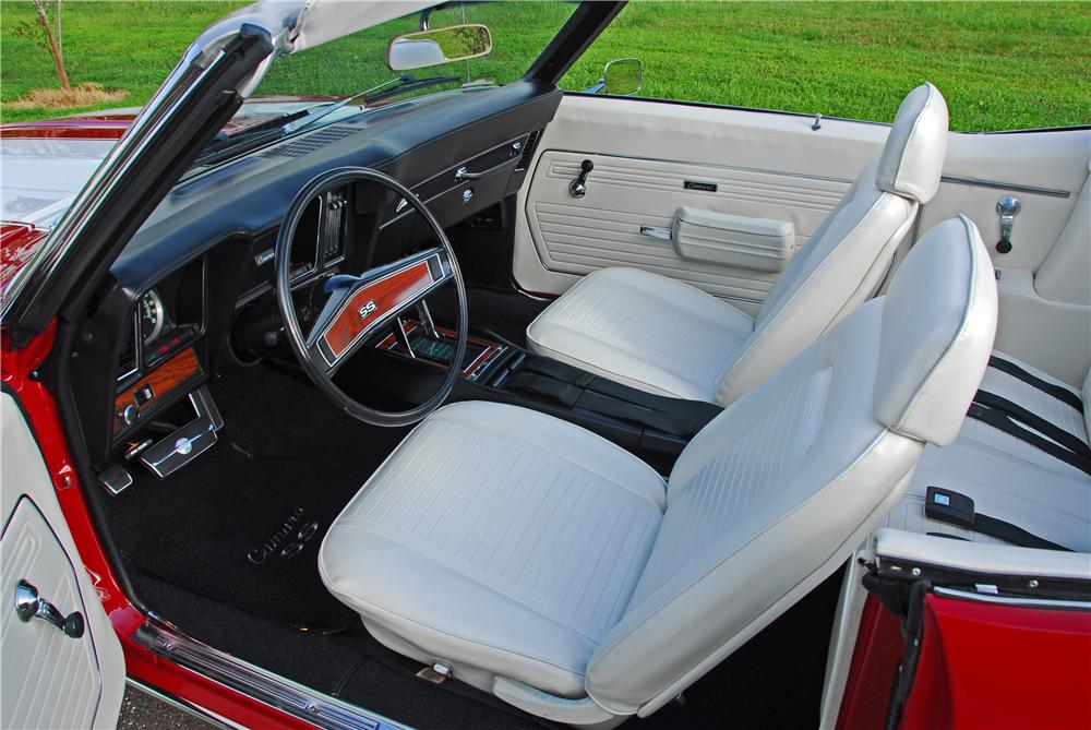 1969 CHEVROLET CAMARO SS CUSTOM CONVERTIBLE - Interior - 91456
