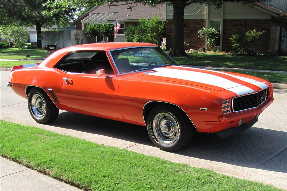 1969 CHEVROLET CAMARO COUPE - Front 3/4 - 91463