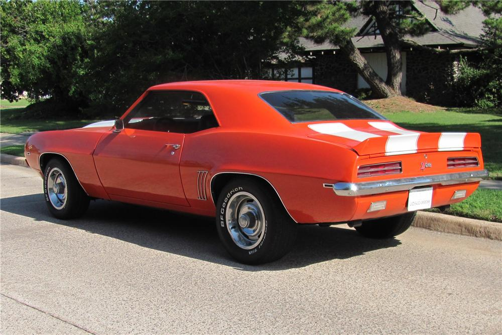 1969 CHEVROLET CAMARO COUPE - Rear 3/4 - 91463