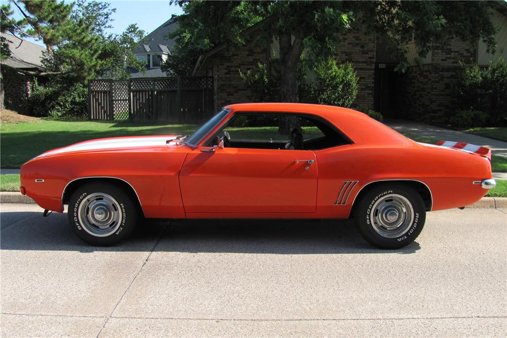 1969 CHEVROLET CAMARO COUPE - Side Profile - 91463