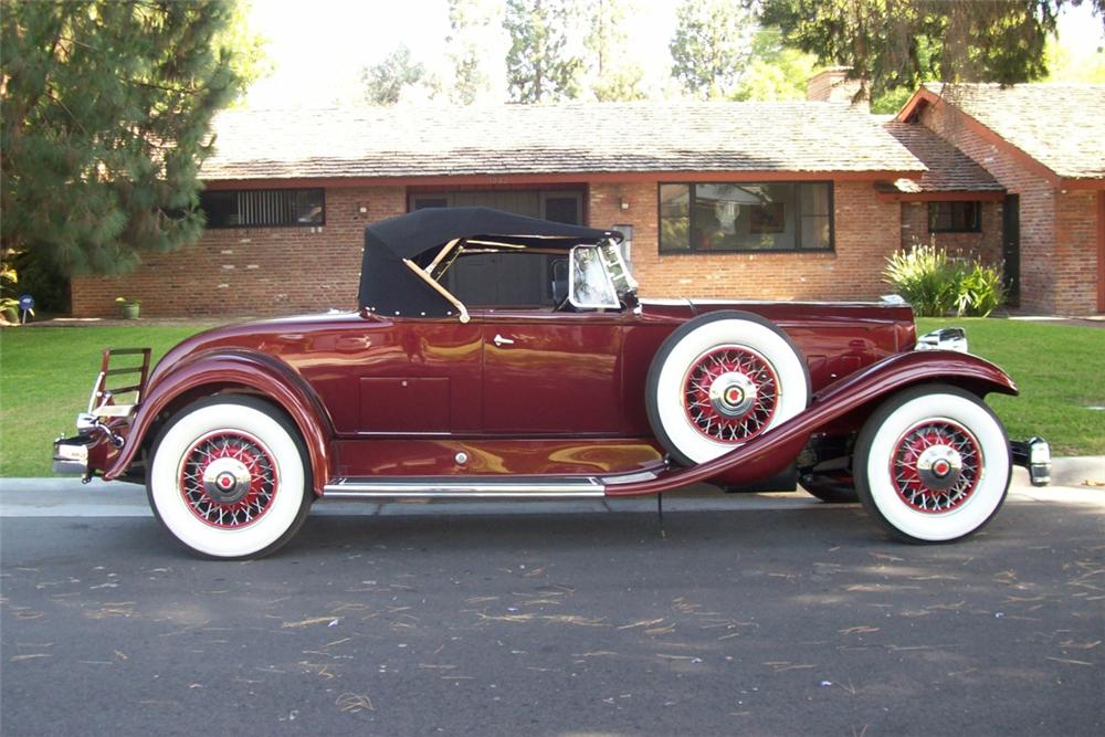 1931 PACKARD 840 ROADSTER - Side Profile - 91524