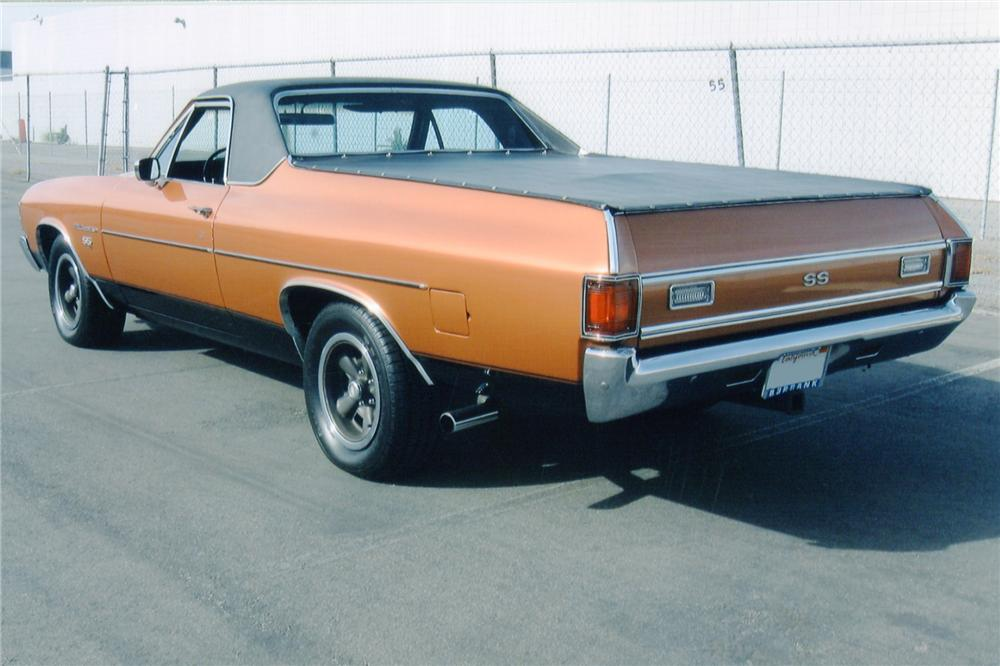 1971 CHEVROLET EL CAMINO SS PICKUP - Rear 3/4 - 91568