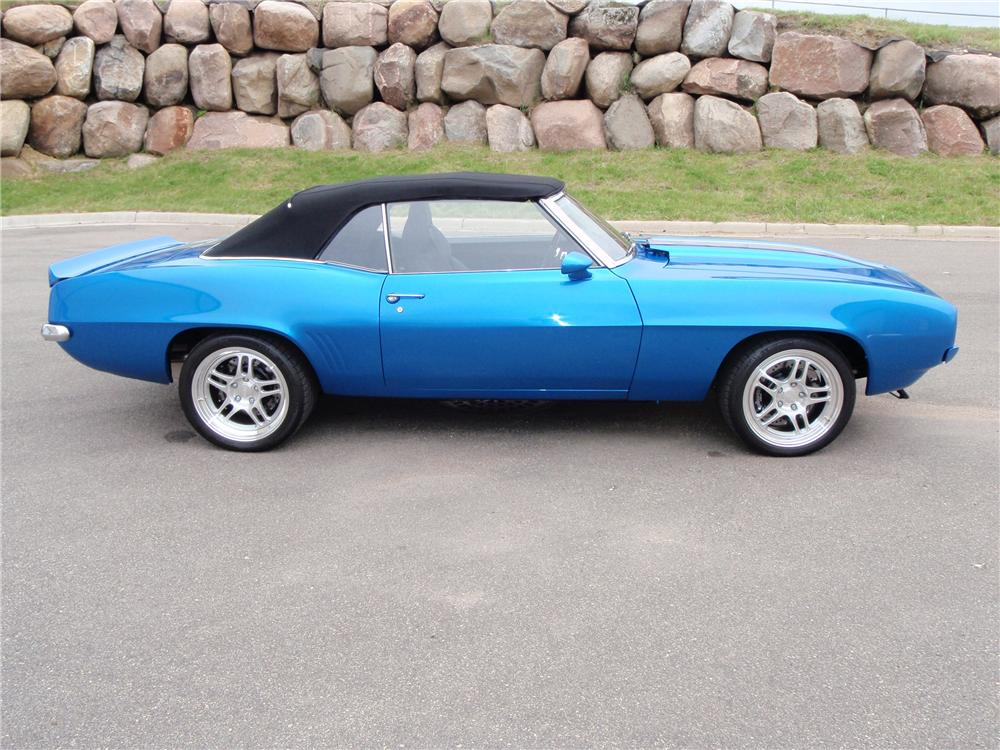 1969 CHEVROLET CAMARO RS PRO-TOURING CONVERTIBLE - Side Profile ...