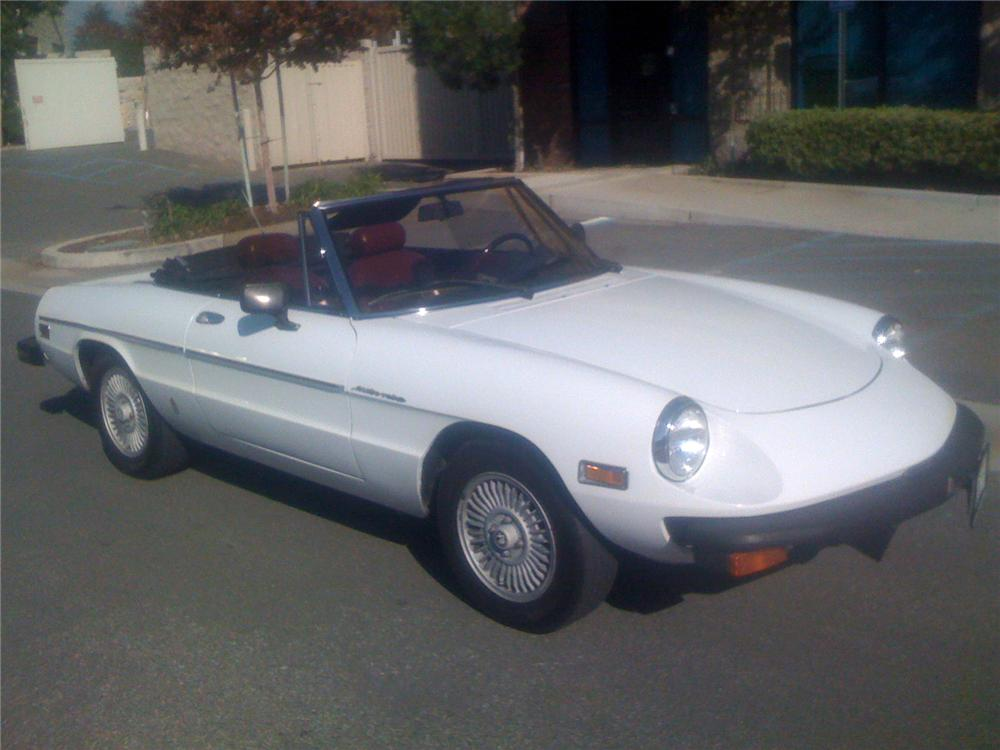 1981 alfa romeo spider convertible 91610. Black Bedroom Furniture Sets. Home Design Ideas