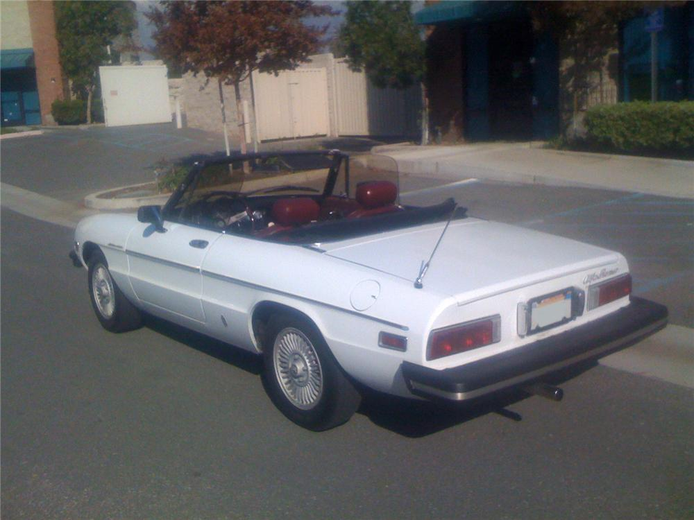 1981 ALFA ROMEO SPIDER CONVERTIBLE - Rear 3/4 - 91610