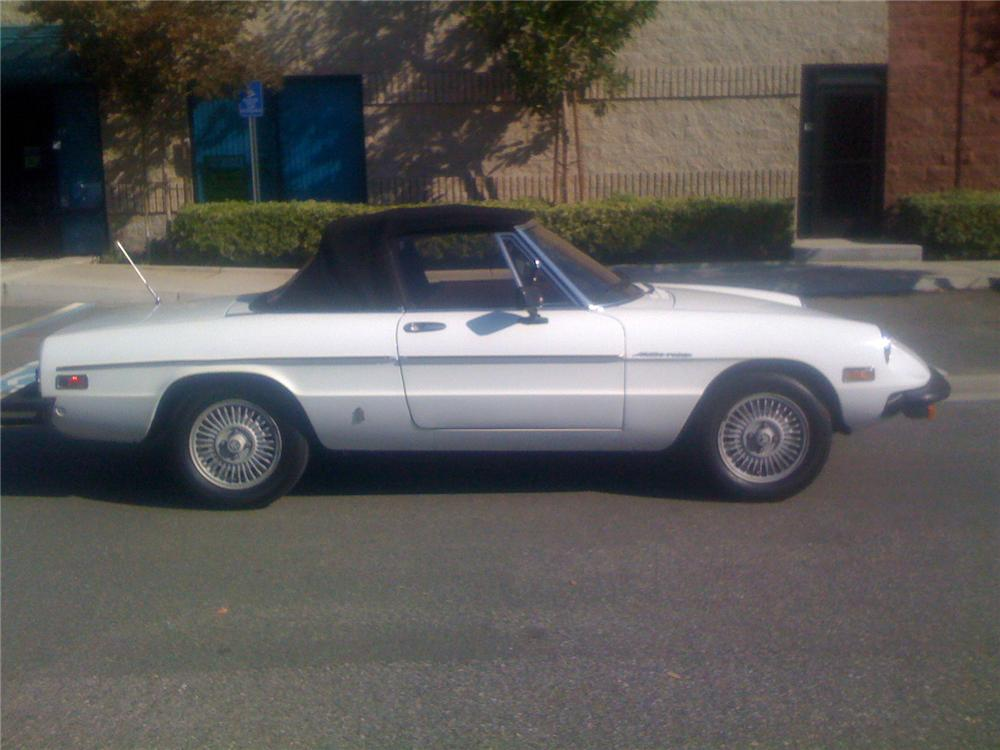 1981 ALFA ROMEO SPIDER CONVERTIBLE - Side Profile - 91610